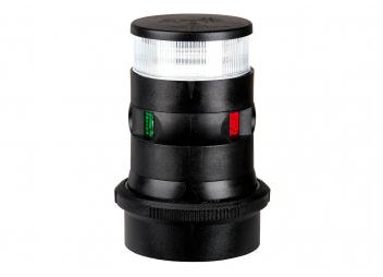 LED Luce di navigazione tricolore / ancora Serie 34 / Corpo nero