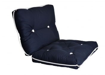 Cuscino doppio da barca Kapok / blu navy