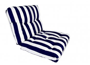 Cuscino da barca Kapok doppio / blu navy a righe