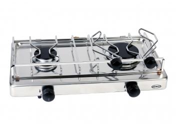 Fornello a gas in acciaio inossidabile / 2 fuochi / senza supporto oscillante