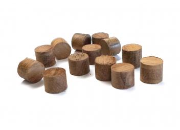 Tappi in legno pregiato / 100 pezzi