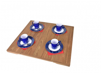 Pannello tavolo in teak pieghevole