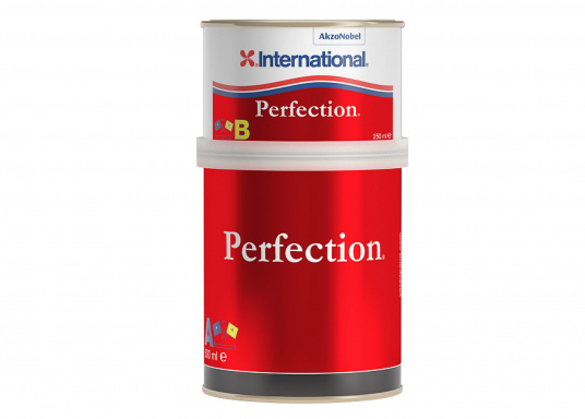 PERFECTION, smalto a due componenti, assicura una lunga durata in un ambiente marino, e combina la brillantezza e colori a lunga durata. Disponibile in diversi colori; è possibile opacizzare la tinta con speciali additivi.  (Immagine 1 di 2)
