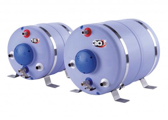 Questo scambiatore di calore ha un serbatoio in acciaio di alta qualità (1,5 mm di spessore), schiuma isolante forte einvolucro di plastica resistente. Il boiler nautico è disponibile in diversi volumi.  (Immagine 1 di 5)