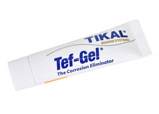 Tef-Gel® è una pasta impermeabile a base di PTFE, che può essere usata universalmente. Previene le fioriture (protuberanze)delmetallo e fornisce una protezione affidabile contro la corrosione di alluminio e acciaio inossidabile.    (Immagine 1 di 5)