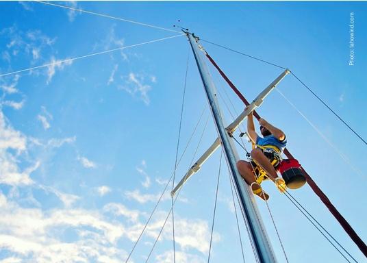 Per poter lavorare sul punto più alto della tua barca e senza necessità di aiuti esterni e senza lasciare l'imbracatura. Il Topclimber® rende tutto ciòpossibile. Facilità di installazione, semplicità di utilizzo. Adatto fino a max. 200 kg.  (Immagine 2 di 9)