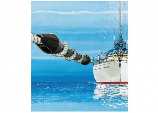 Protezione per la cima e la barca! Questi compensatori di ormeggio di alta qualità realizzati in gomma EPDM sono progettati per uso ad alte prestazioni. La durezza di smorzamento può essere regolata facilmente. Prezzo perpezzo singolo.  (Immagine 4 di 4)