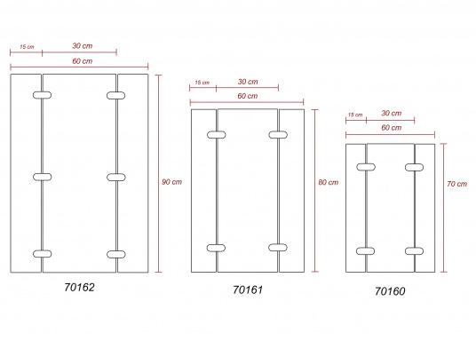 Piano tavoloin legno Teak. Disponibili in diverse dimensioni.  (Immagine 3 di 3)