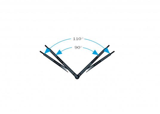 Tergicristallo elettrico con potente motore elettrico schermato. Alloggiamento in acciaio inossidabile. Disponibile nella versione da 12 V o 24 V.  (Immagine 5 di 6)