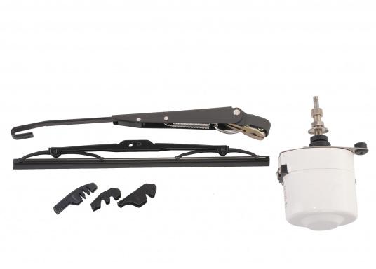 Tergicristallo elettrico con potente motore elettrico schermato. Alloggiamento in acciaio inossidabile. Disponibile nella versione da 12 V o 24 V.  (Immagine 2 di 6)