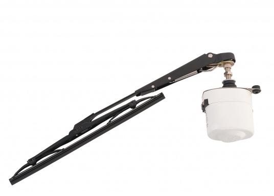 Tergicristallo elettrico con potente motore elettrico schermato. Alloggiamento in acciaio inossidabile. Disponibile nella versione da 12 V o 24 V.  (Immagine 1 di 6)