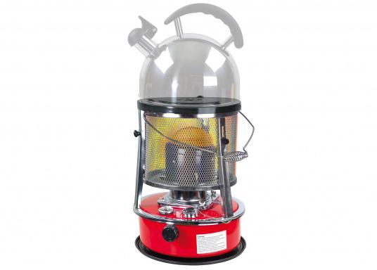 La stufa a cherosene provvede a rendere l'ambientecaldo ed accogliente.Dotata di un serbatoio di circa 5litri di carburante per un tempo di funzionamento di circa 17 ore.  (Immagine 3 di 16)