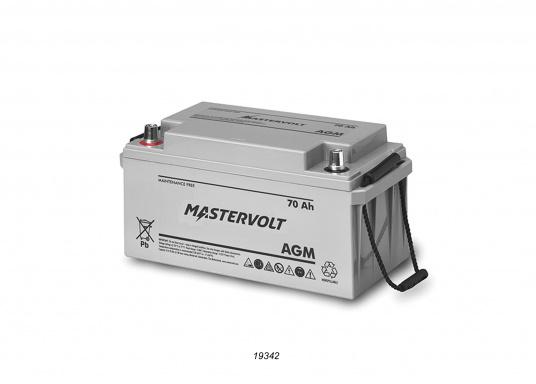 Nelle batterie AGM, la maggior parte dell'elettrolita (miscela di acqua e acido solforico) è assorbitodallafibra di vetro. Questo tipo di batteria non necessitamanutenzione e non si forma gas durante il normale utilizzo. Poiché non è necessaria la ventilazione, questa batteria può essere installata ovunque.  (Immagine 3 di 9)