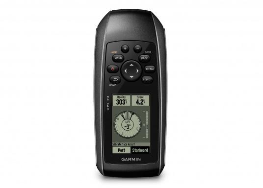 Il GPS 73 è un dispositivo portatile di facile utilizzo, che è la soluzione di navigazione perfetta per barche, barche a vela o piccole imbarcazioni che non dispongono di un chartplotter. Ha una sensibilità molto elevata affinchè i segnali satellitari possano essere catturati rapidamente e la vostra posizione possa essere determinata anche nelle condizioni più difficili.  (Immagine 3 di 9)