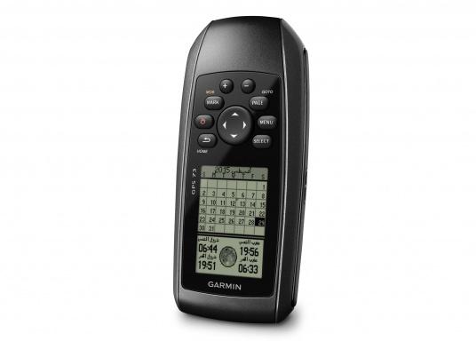 Il GPS 73 è un dispositivo portatile di facile utilizzo, che è la soluzione di navigazione perfetta per barche, barche a vela o piccole imbarcazioni che non dispongono di un chartplotter. Ha una sensibilità molto elevata affinchè i segnali satellitari possano essere catturati rapidamente e la vostra posizione possa essere determinata anche nelle condizioni più difficili.  (Immagine 4 di 9)