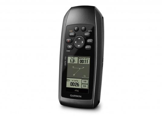 Il GPS 73 è un dispositivo portatile di facile utilizzo, che è la soluzione di navigazione perfetta per barche, barche a vela o piccole imbarcazioni che non dispongono di un chartplotter. Ha una sensibilità molto elevata affinchè i segnali satellitari possano essere catturati rapidamente e la vostra posizione possa essere determinata anche nelle condizioni più difficili.  (Immagine 5 di 9)
