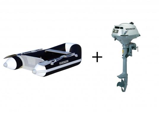 Il set è composto dal gommone NEMO 230di SEATECe il motore fuoribordo Honda BF 2.3.  (Immagine 1 di 14)