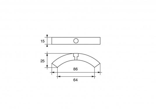 Anodo per elica per eliche Volvo Penta 2 e 3 pale, tre parti. Disponibile in zinco, alluminio o magnesio. Codice originale Volvo Penta: 3858399. (Immagine 3 di 3)