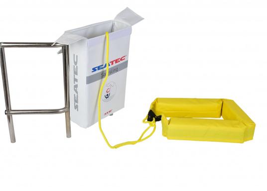 Il sistema di recupero uomo a mare realizzato da SAFESLING può essere installato sul pulpito di poppa di qualsiasi imbarcazione. La sua funzione è quella di facilitare il recupero di un uomo caduto fuori bordo. (Immagine 9 di 9)