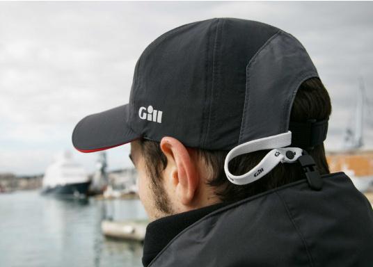 Cappellino molto leggero e traspirante con trattamento idrorepellente. Il cappellino ha un fattore di protezione dai raggi UV di 50+ e un built-Cap-Catcher. (Immagine 3 di 3)