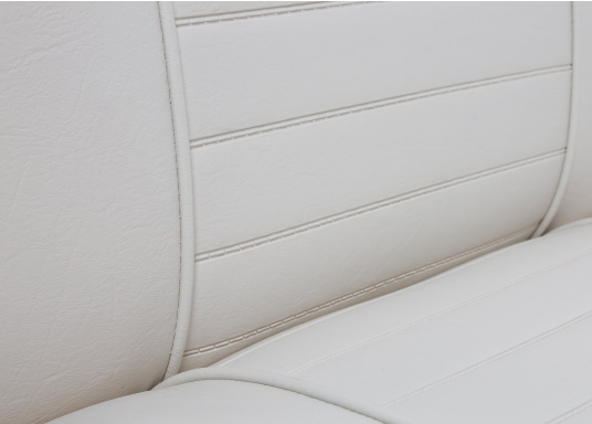 Sedile contrapposto foderato in simil pelle e telaio in plastica. Per due persone. Gli schienali possone essere stesi per diventare una comoda superficie su cui sdraiarsi,lunga166 cm. (Immagine 4 di 14)