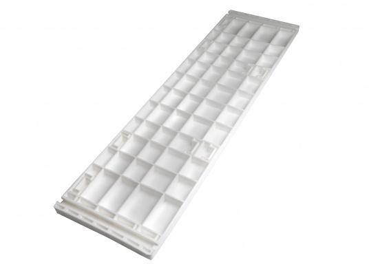 Sedile contrapposto foderato in simil pelle e telaio in plastica. Per due persone. Gli schienali possone essere stesi per diventare una comoda superficie su cui sdraiarsi,lunga166 cm. (Immagine 13 di 14)
