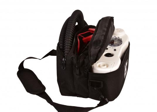 Questa pompa elettrica è ideale per gonfiare e sgonfiare stand up paddle, gommoni, tubes, parabordi, materassi ad aria e molto altro. La pressione dell'aria può essere regolata in ogni momento. (Immagine 4 di 9)