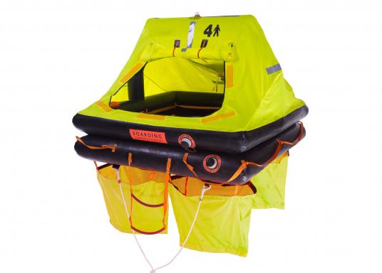 La nuova zattera di salvataggio SEATEC è stata creata per il mercato europeo, è certificata ISO 9650-2 per le zone costiere e ha anche l'omologazione del Bureau Veritas (Francia) e RINA (Italia). (Immagine 2 di 7)