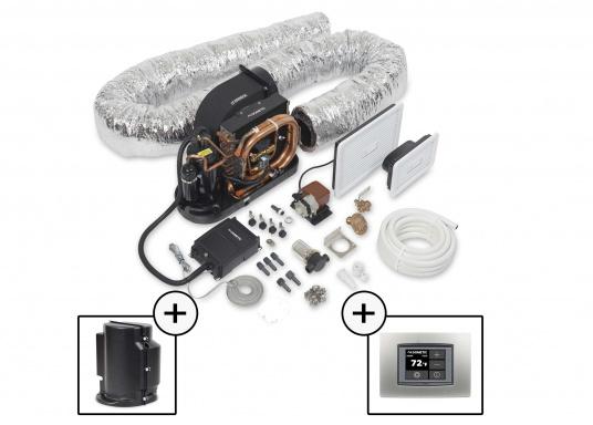 Sistema di climatizzazione compatto per l'autoinstallazione. Fornito con un rivestimento insonorizzante per la riduzione del rumore e un pannello di controllo delle cabine Smart Touch. (Immagine 1 di 6)