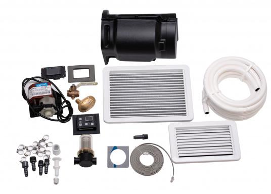 Sistema di climatizzazione compatto per l'autoinstallazione. Fornito con un rivestimento insonorizzante per la riduzione del rumore e un pannello di controllo delle cabine Smart Touch. (Immagine 5 di 6)
