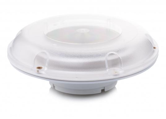 Ventilatore solare molto stabile e piatto, con coperchio in plastica trasparente. Con interruttore integrato per l'accensione e lo spegnimento. (Immagine 1 di 5)