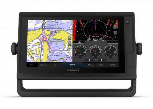 """L'intuitivo plotter cartografico GPSMAP 922 Plus è di facile lettura anche alla luce diretta del sole grazie al suo schermo luminoso. Il suo touchscreen da 9"""" offre una visualizzazione della mappa ottimizzata, è facile da usare e facile da integrare nel sistema nautico Garmin. (Immagine 3 di 7)"""