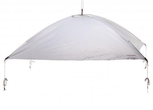 Tendalino a sospensione libera che può essere appeso ovunque sullo yacht grazie alla sua flessibilità. Ha una tenda resistente alla pioggia e ai raggi UV, cinghie regolabili su tutti gli angoli e aste con elastici integrati. Disponibile in diverse dimensioni. (Immagine 1 di 9)