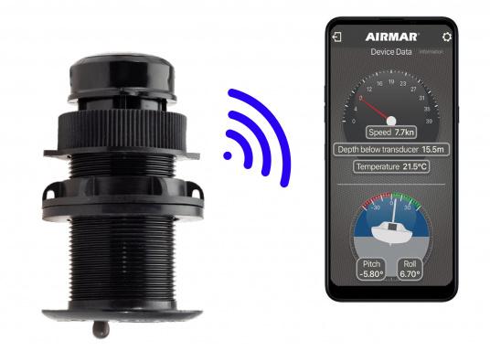 Il trasduttore passante in plastica DST810 determina in modo affidabile e preciso i segnali di profondità, velocità e temperatura nell'acqua. Grazie alla connettività NMEA2000 e Bluetooth, hai diverse opzioni per la visualizzazione dei dati. Un'uscita del segnale a 5 Hz garantisce una riproduzione fluida sul dispositivo di visualizzazione. (Immagine 2 di 8)