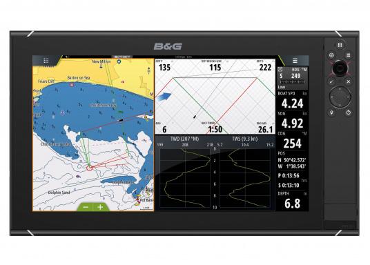Lo Zeus³ 16 è un sistema di navigazione con plotter cartografico di facile utilizzo per velisti in alto mare e regatanti con display touchscreen da 16 pollici, elettronica potente e un'ampia area di funzioni sviluppata appositamente per i marinai.  (Immagine 2 di 9)