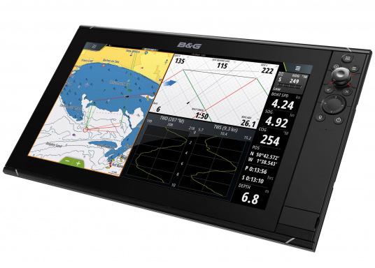 Lo Zeus³ 16 è un sistema di navigazione con plotter cartografico di facile utilizzo per velisti in alto mare e regatanti con display touchscreen da 16 pollici, elettronica potente e un'ampia area di funzioni sviluppata appositamente per i marinai.  (Immagine 1 di 9)