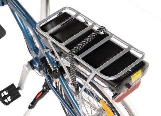 Con la nuova e-bike in alluminio BLIZZARD PRO, il viaggio diventa la meta. Come ulteriore sviluppo del popolare modello precedente BLIZZARD, avrai nuove funzionalità per un'autonomia e una flessibilità ancora maggiori. Lasciati sorprendere dalla nuova bici pieghevole senza dover rinunciare al piacere di guida! la consegna include una borsa per un comodo trasporto della bicicletta. (Immagine 6 di 12)