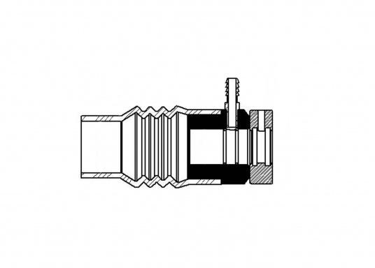 La tenuta meccanica PSS è una tenuta ad anello scorrevole che viene posizionata tra le superfici piane del rotore rotante in acciaio inossidabile e la flangia fissa in carbonio con soffietto in gomma. (Immagine 4 di 5)