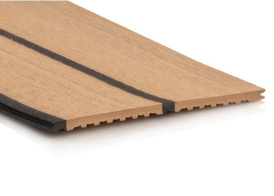 ISITEEK rende ogni ponte di alta qualità ed elegante! Il rivestimento per ponte è realizzato con materiali compositi riciclabili e dona l'aspetto di un vero ponte in teak. (Immagine 1 di 6)