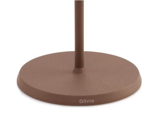 La lampada da tavolo a LED di alta qualità OLIVIA ha una batteria ricaricabile integrata e colpisce per il suo design elegante e l'elevata funzionalità. Trova il suo posto ovunque sia come lampada decorativa che come illuminazione da tavolo e crea un ambiente accogliente. (Immagine 4 di 7)