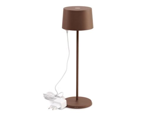 La lampada da tavolo a LED di alta qualità OLIVIA ha una batteria ricaricabile integrata e colpisce per il suo design elegante e l'elevata funzionalità. Trova il suo posto ovunque sia come lampada decorativa che come illuminazione da tavolo e crea un ambiente accogliente. (Immagine 6 di 7)