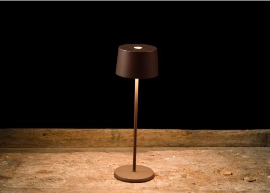 La lampada da tavolo a LED di alta qualità OLIVIA ha una batteria ricaricabile integrata e colpisce per il suo design elegante e l'elevata funzionalità. Trova il suo posto ovunque sia come lampada decorativa che come illuminazione da tavolo e crea un ambiente accogliente. (Immagine 7 di 7)