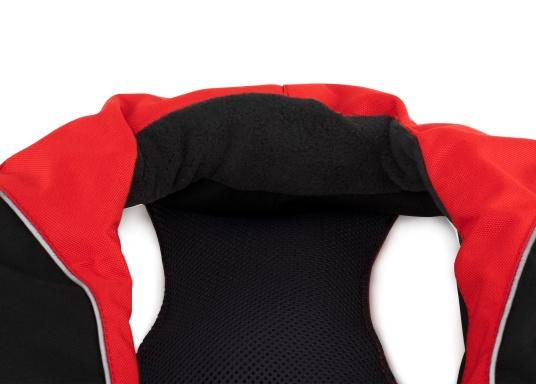 Il giubbotto di salvataggio autogonfiabile XD 220 di SEATEC, grazie alla suo modello di vestibilità ergonomica, è molto comodo e permette una eccellente libertà di movimento offrendo una qualità ed un comfort di altissima qualità. Con 220 Newton di spinta verticale, garantisce in ogni momento sufficiente galleggiabilità, anche quando si indossano indumenti da vela molto pesanti. (Immagine 5 di 11)