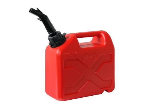 Tanica per carburante ad alto rendimento realizzata in HD-PE di alta qualità. Soddisfa i più elevati standard di sicurezza. Queste taniche di carburante sono approvate per il trasporto di sostanze pericolose e sono adatte anche per carburante di tipo E10. (Immagine 1 di 8)