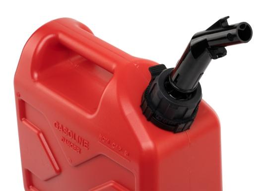 Tanica per carburante ad alto rendimento realizzata in HD-PE di alta qualità. Soddisfa i più elevati standard di sicurezza. Queste taniche di carburante sono approvate per il trasporto di sostanze pericolose e sono adatte anche per carburante di tipo E10. (Immagine 6 di 8)