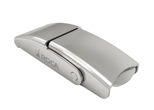 Chiusura a leva di alta qualità in acciaio inossidabile lucido. Diverse opzioni di regolazione garantiscono un bloccaggio stretto. La consegna include un gancio. (Immagine 1 di 3)