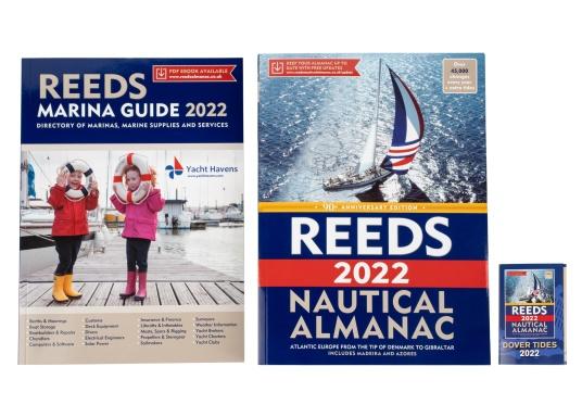 Il ReedsNautical Almanac comprende tutte le informazioni per navigare in sicurezza lungo la costa atlantica europea, da Skagen in Danimarca fino a Gibilterra. Lingua inglese. (Immagine 7 di 11)