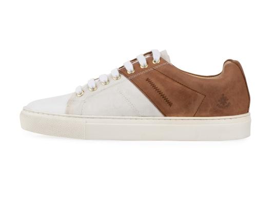 Con le sneaker da uomo GENOA di Blueport, avrai sempre un pezzo di vela con te. Questa comoda scarpa è realizzata in tela da vele reciclata e pelle. Il morbido rivestimento interno in neoprene assicura il massimo comfort. (Immagine 2 di 12)