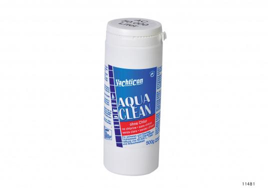 Aqua Clean mantiene l'acqua pulita e sicura! In quasi due ore, l'acqua potabile è disinfettata e fresca. Copertura antibatterica fino a sei mesi. Aqua Clean non contiene cloro o sostanze chimiche. Inodore ed insapore.  (Immagine 4 di 4)