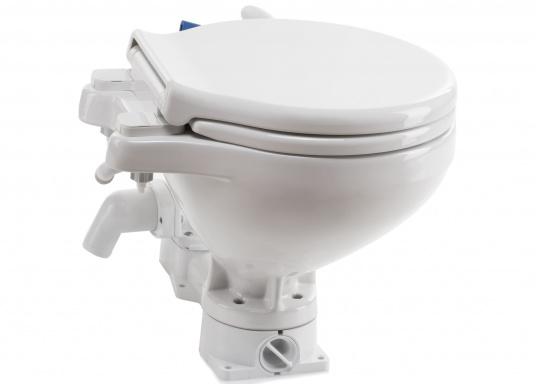 Funzionamento comodo, design e tecnologia innovativi! La tazza è in fine porcellana cinese, sedile e coperchio softclosesono realizzati in plastica resistente.  (Immagine 2 di 7)